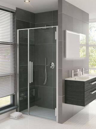 Bruynzeel Zeta inline draaideur // douche douchecabine badkamer sanitair // bathroom shower hinge door // salle de bain porte pivotante
