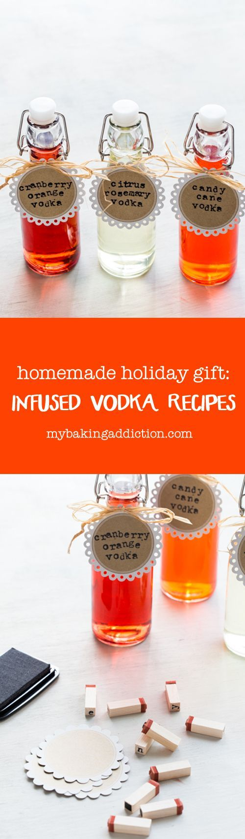 3 Infused Vodka Recipes! This is the perfect homemade holiday gift for friends and neighbors. Grab a bottle of high-quality vodka and get creative!
