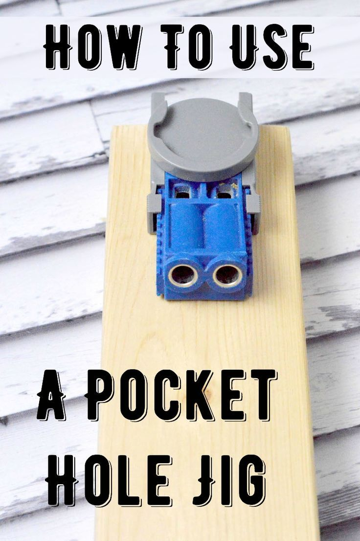 Learn all about the pocket hole jig - otherwise known as a Kreg Jig! Use this tool to make your woodworking strong and tight with (almost) invisible screws. It's easy enough for even a novice woodworker to use! via @diy_candy
