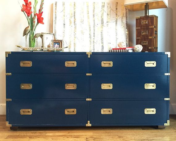 Lacquer Campaign Dresser By Henredon