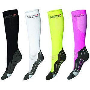 DANISH ENDURANCE® Chaussettes de Compression // Pour la course a pied, le cyclisme, le triathlon, le fitness, salle de sport // Boost les…