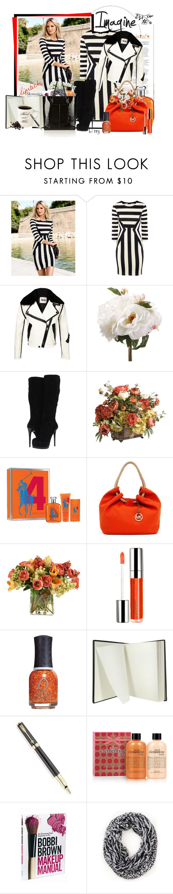 """""""Imagine enough to stand out."""" by berry1975 ❤ liked on Polyvore featuring Forum, H&M, Acne Studios, Pour La Victoire, Ethan Allen, MICHAEL Michael Kors, Distinctive Designs, By Terry, ORLY and Pineider"""