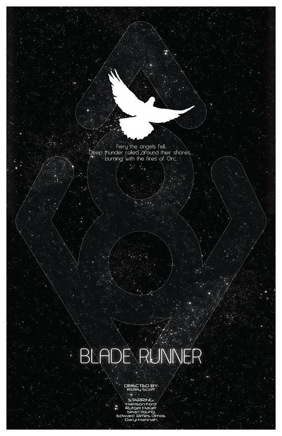 Blade Runner - classic scifi film with cold, brilliant storyline. Poster by
