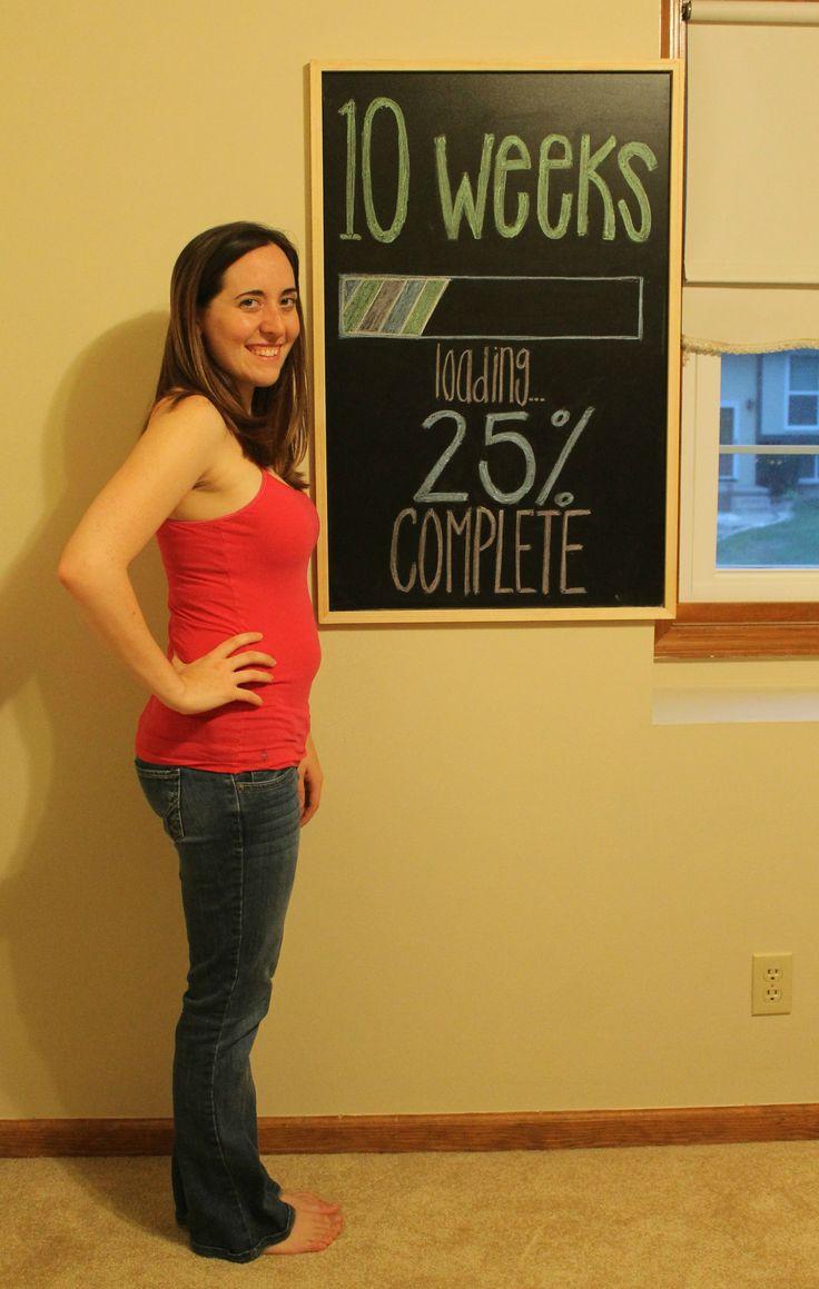 10 week pregnancy chalkboard