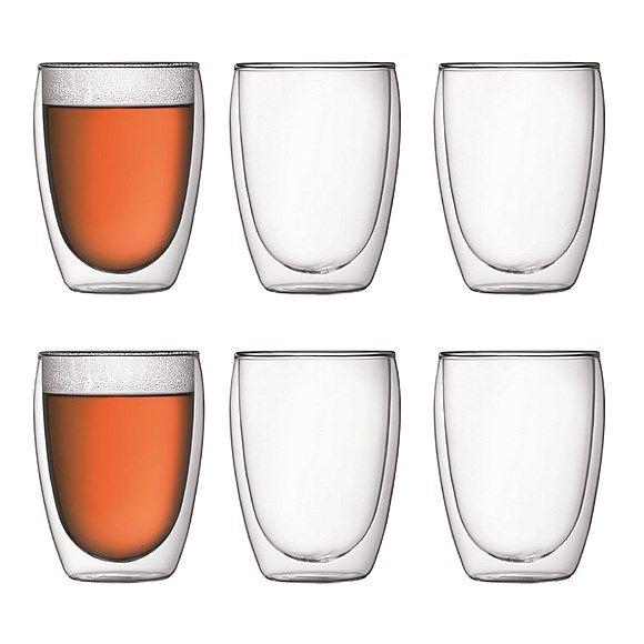 Bodum Pavina Dubbelwandig Glas Set van 6 - 0,35 L