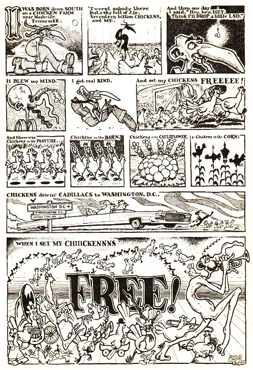 Set my chickens free Gilbert Shelton (With images