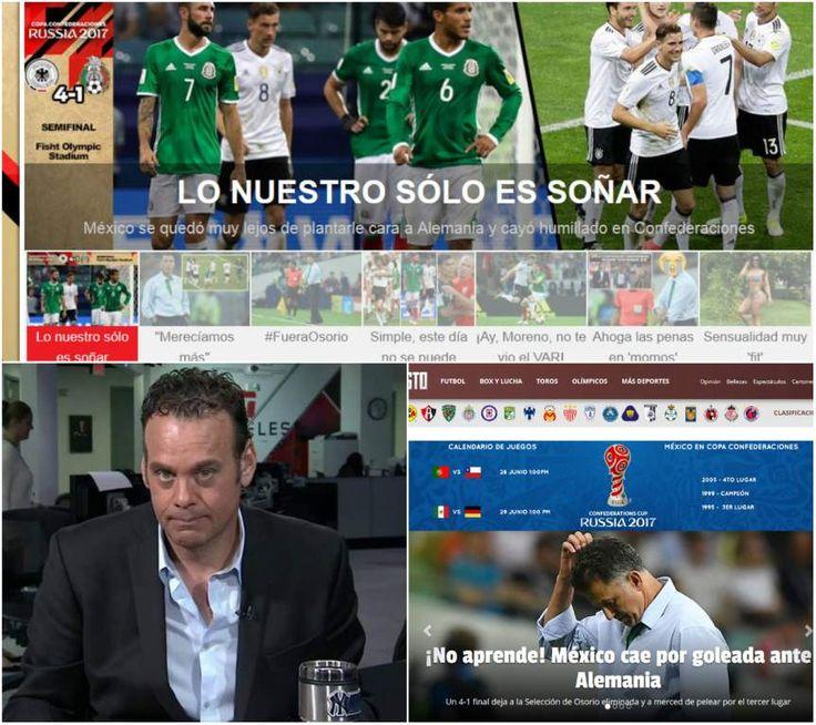 Los mexicanos fueron goleados 1-4 por los alemanes y los medios deportivos no perdonan a su selección.Periodistas como Faitelson, André Marín se han pronunciado y no se diga la prensa escrita.