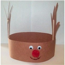 kids crafts christmas reindeer hat