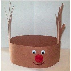 Handprint Reindeer Hat Craft