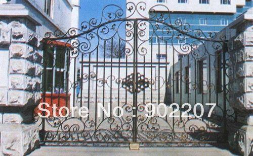 Кованые железные ворота, медные железные ворота, металлические ворота-6