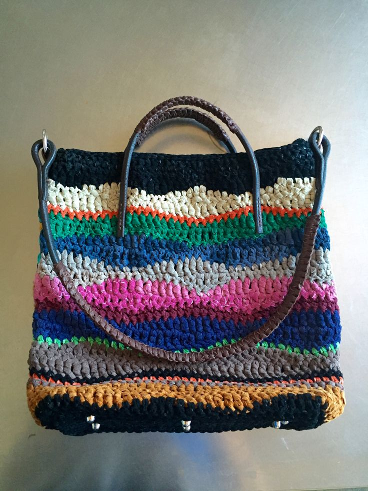 crochet with leather