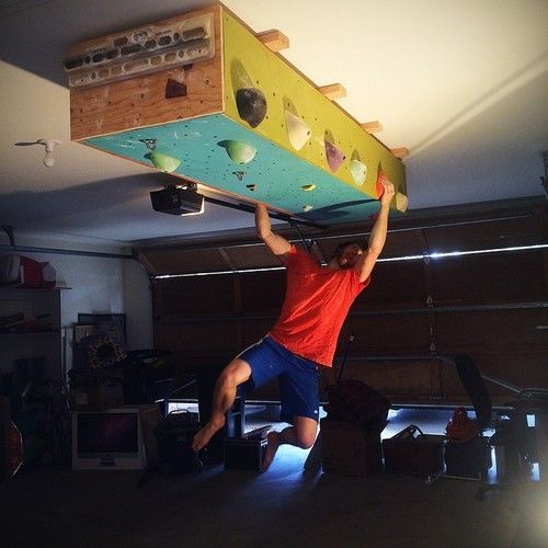 Great idea…climbing box on the ceiling rock climb