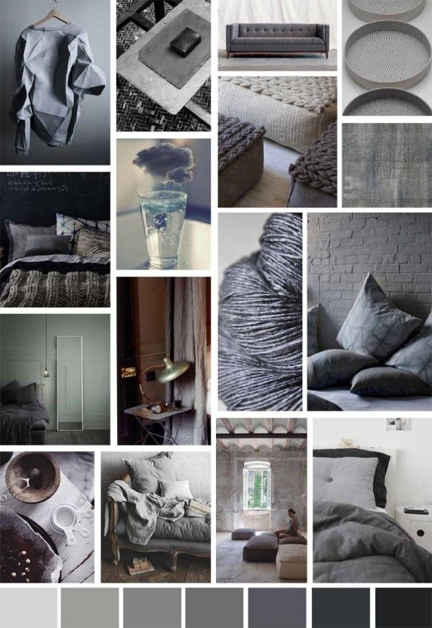 A/W 2014 Homeware Colour Trend |Moody Greys - Write On Trend