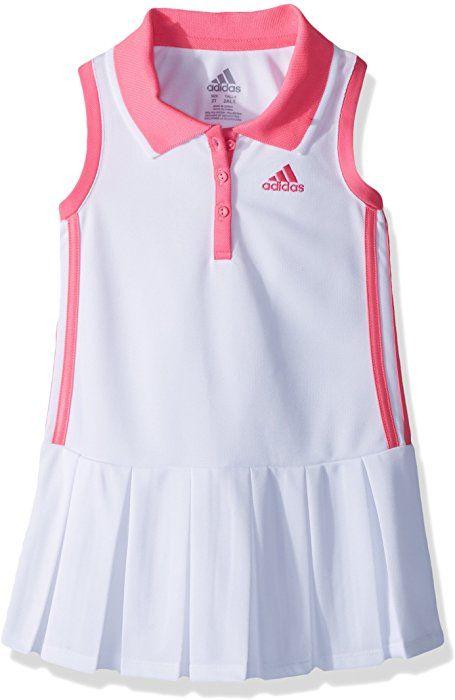 c9c3b5875f1 Amazon.com: adidas Toddler Girls' Yrc Active Polo Dress, White, 4T: Clothing