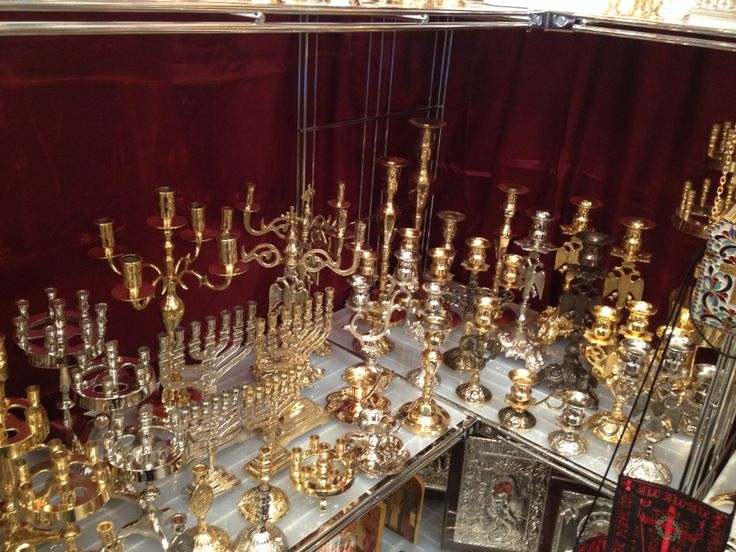 Orthodox candle stand corner in our Laiki Techni 2015 stand