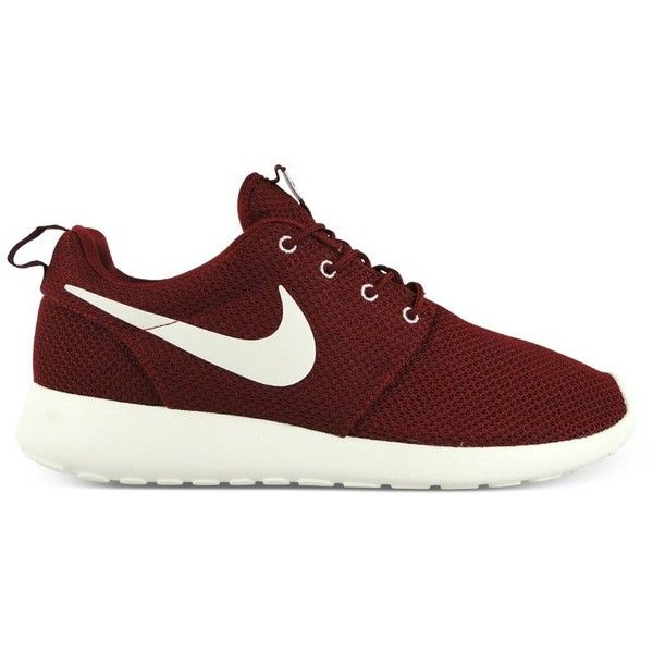 Nike Roshe Run (bordeaux/bordeaux) ($100) ❤ liked on Polyvore featuring shoes, sneakers, nike, trainers, nike footwear, nike trainers, bordeaux sneakers and bordeaux shoes
