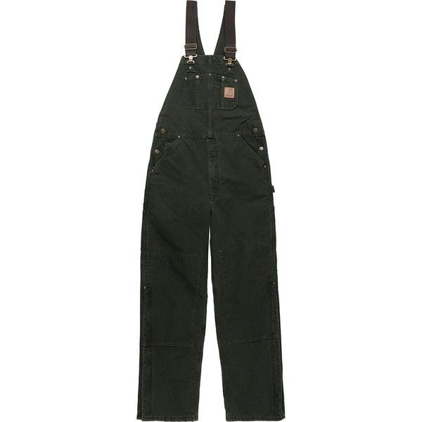 Carhartt Quilt-Lined Sandstone Bib Overall Pant (80,155 KRW) ❤ liked on Polyvore featuring men's fashion, men's clothing, mens overalls, men's apparel, mens bib overalls and men's insulated bib overalls