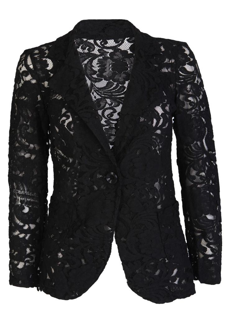 Black Lace Blazer - Womens Clothing Sale, Womens Fashion, Cheap Clothes Online | Miss Rebel