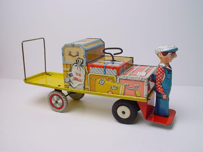 Vintage Unique Art Finnegan Tin Toy Wind-up Vehicle