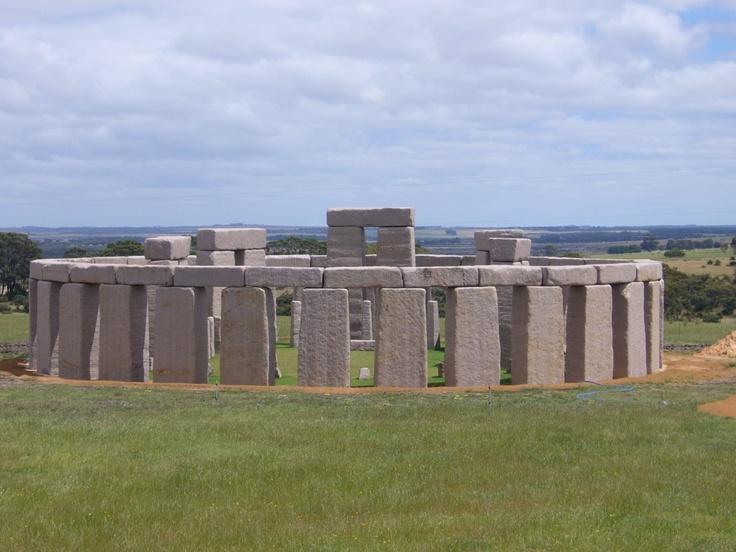 The replica Stonehenge in Esperance Western Australia.