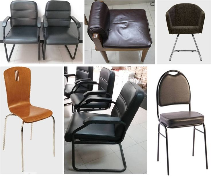 Visitor chair----Manufacturer and vendor: hatil and regal,otobi SIZE: seat : 350x410•back:350x230  Height: floor to seat–400mm, Floor to back – 800mm,  Seat : 450x450mm, • back : 430 x 480mm  Height : floor to seat- 465, Floor to back – 420mm Material: mild steel, leather.wood Unit cost:3000-11000 tk