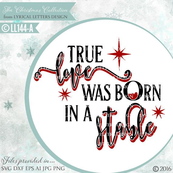 Download True Love Was Born In a Stable LL144 A SVG DXF Fcm Ai Eps ...
