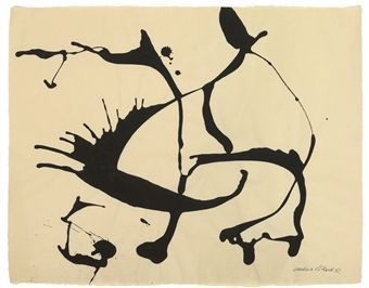 Jackson Pollock (1912-1956), Untitled, signed and dated 'Jackson Pollock 51' (lower right), enamel on paper, 17½ x 22 1/8 in.