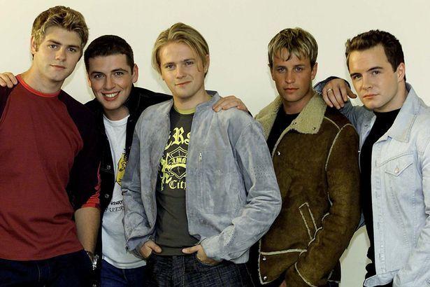 Westlife's Brian McFadden, Mark Feehily, Nicky Byrne, Kian Egan and Shane Filan