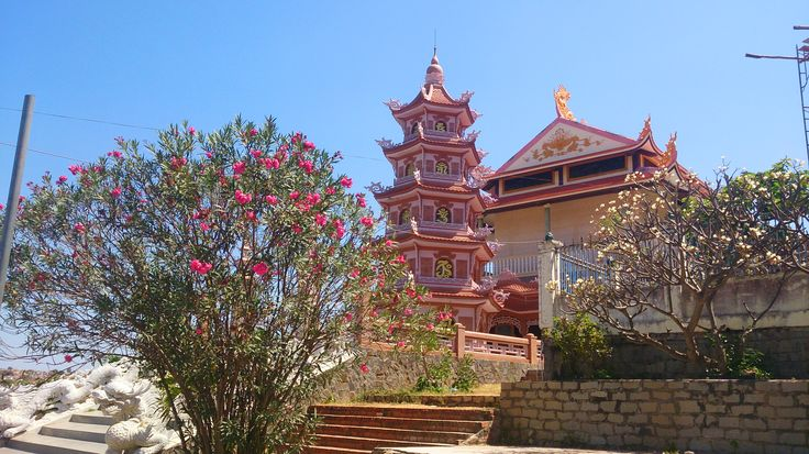 Buddhist temple near Phan Thiet, Vietnam