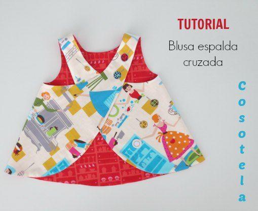 cosotela: Blusa espalda cruzada - tutorial
