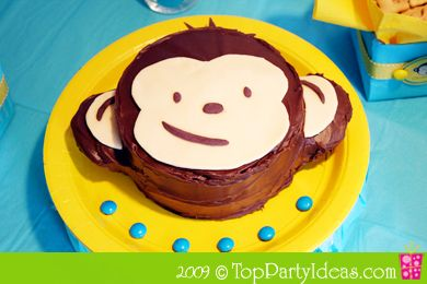First birthday party idea - I think I could do this! Mod Monkey Cake Finished Birthday Cake
