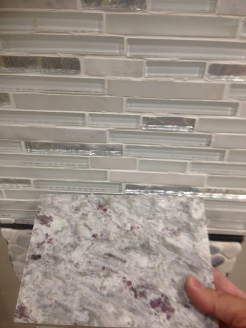 cristallo interlocking tile and moon white granite  moon
