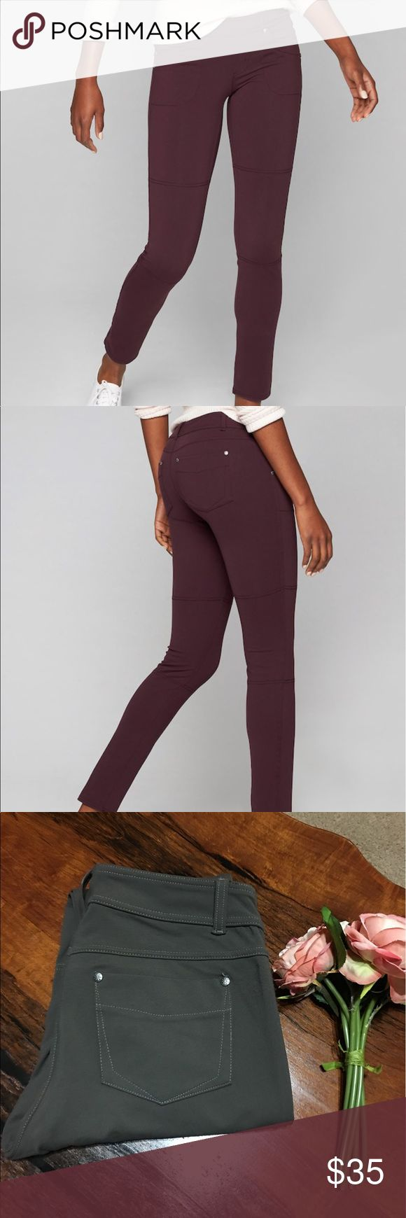 ✨ATHLETA JEGGINS✨ In GOOD CONDITION NO STAINS NO HOLES Faux fly, belt loops, jean-inspired stitching 4 Pockets 2 front hand, 2 back patch Nylon/Spandex PILAYO Our exclusive, signature fabric that's our go-to for every workout BLACK LYCRA Black color has black Lycra® spandex for no-shine effect WICKING Pulls sweat away from the body so it can evaporate faster BREATHABLE Sweat can travel through the fabric so it can evaporate on the surface IT FEELS Super soft, stretchy, lightweight and…
