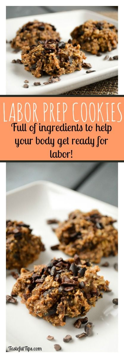 Labor Prep Cookies recipe. A healthy pregnancy snack to help prepare for childbirth.
