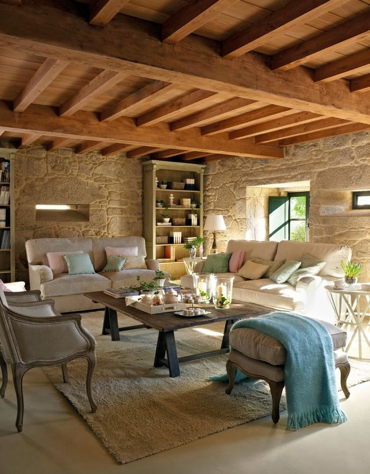 Top 10 Rustic Home Decorations. Not the furniture, just the ceiling and walls.