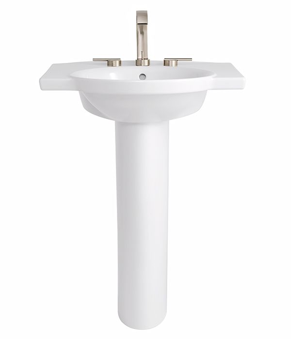 modern pedestal sink by dxv roycroft collection