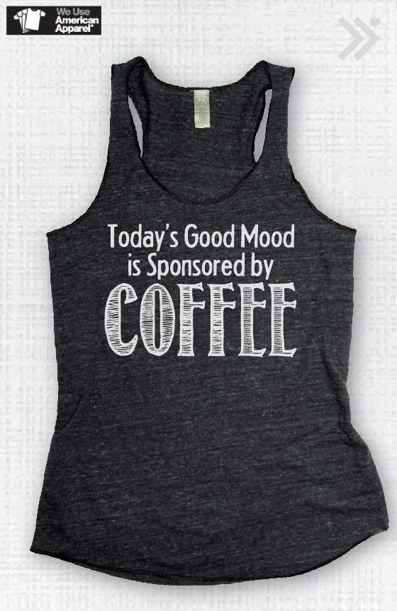 """Today's Good Mood is Sponsored By Coffee Charcoal/ by everfitte. I just need it to say """"Diet Coke"""" instead."""