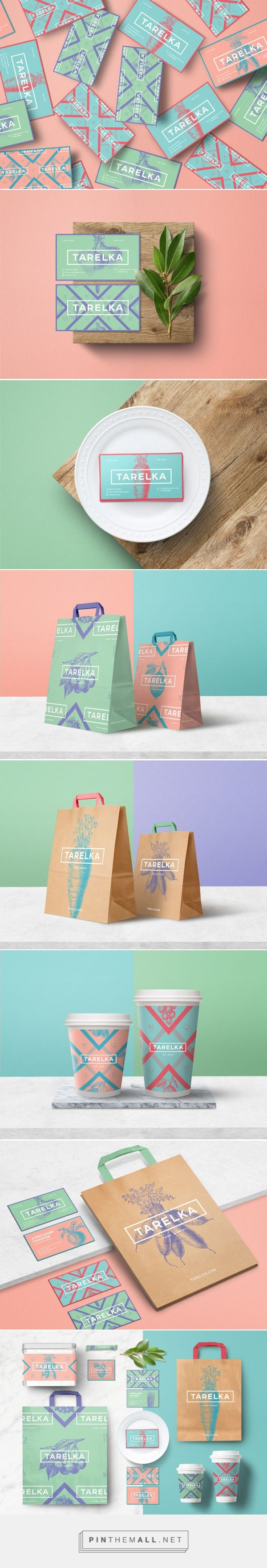 TARELKA food market graphic design branding stationary packaging logo business…