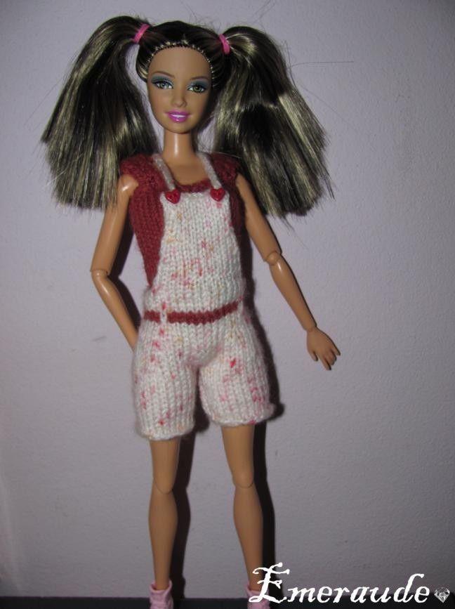 Tricot: Ensemble n°4 (salopette et T-shirt) pour Barbie