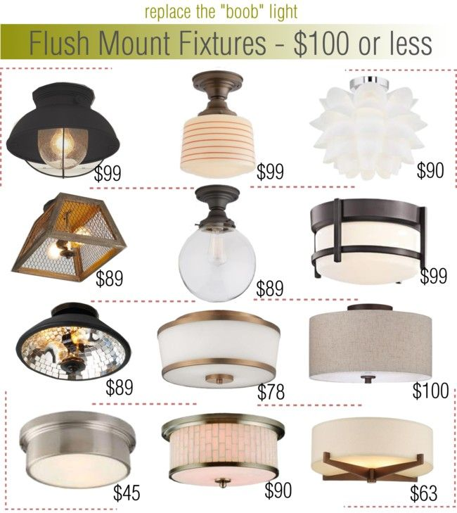 Flush Mount Fixtures $100 or less