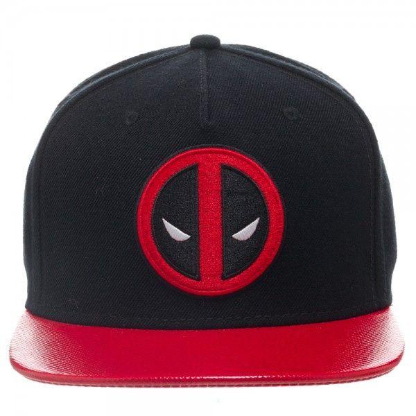 Deadpool Emblem Black Snapback Cap - HobbyStuf