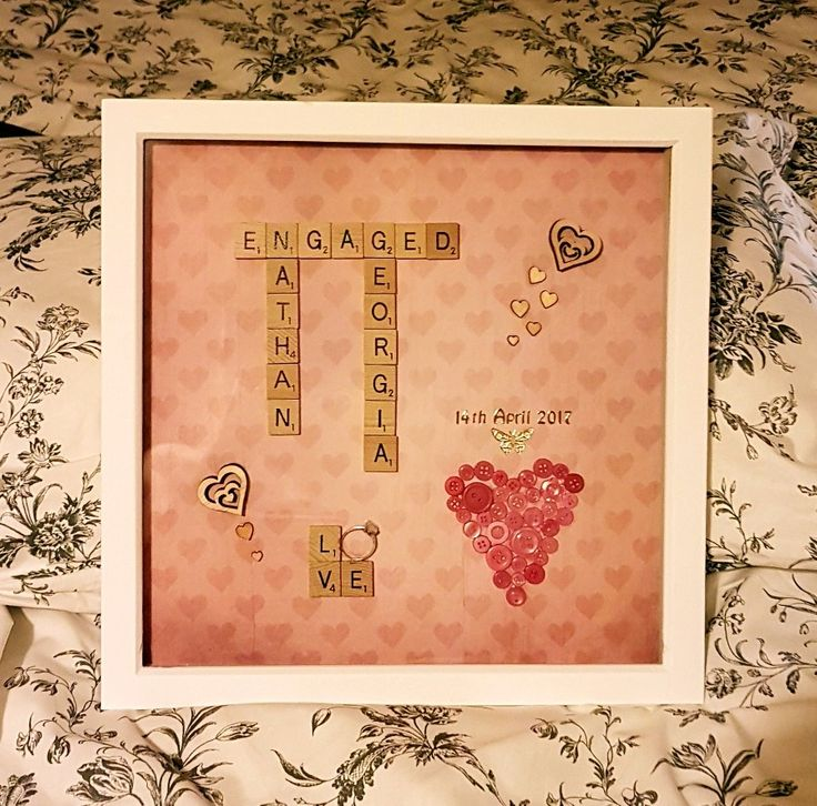 Engagement scrabble art