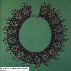 Black mesh with gold diamonds