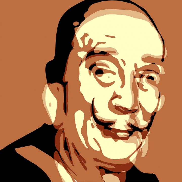 "Troy Gua: ""The Salvador Dali Lama"" (Salvador Dali + The Dalai Lama)"