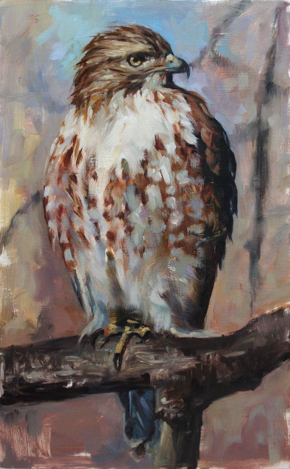 Raptor - Red-tailed Hawk - archivial print of original oil painting
