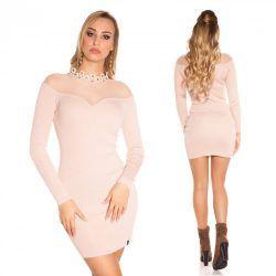Rózsaszín kötött ruha