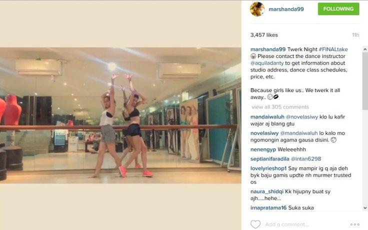 Ini Dia Video Seksi Marshanda Latihan Twerk Dance di Sebuah Studio - http://www.rancahpost.co.id/20150634424/ini-dia-video-seksi-marshanda-latihan-twerk-dance-di-sebuah-studio/