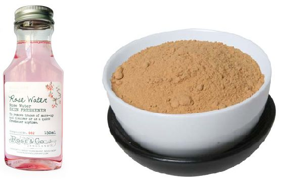 Rose water sandal wood face pack for sumemr