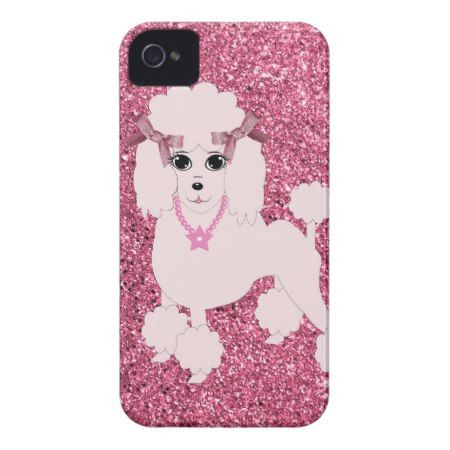 Pink poodle iPhone 4 Case-Mate case - click/tap to personalize and buy