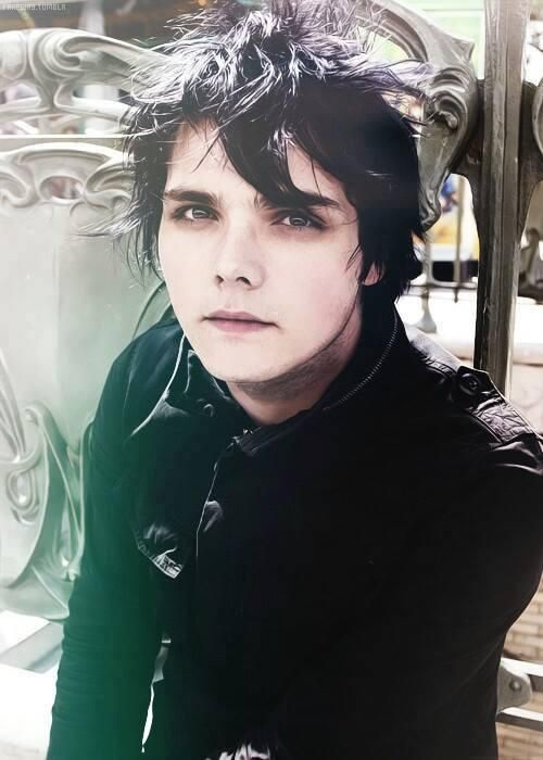 Gerard's taking a break from dying his hair oh no